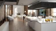 Du carrelage imitation parquet dans une cuisine