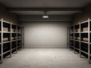 Carrelage dans un garage