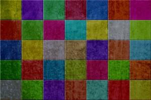 Carrelage coloré maison