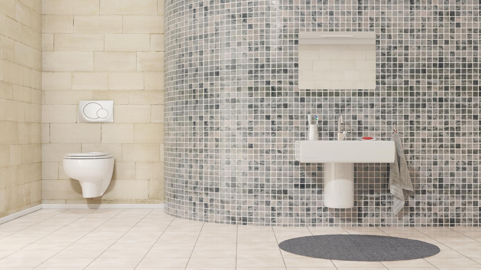 Le carrelage en verre prix pose entretien toutes les for Salle de bain 1m2