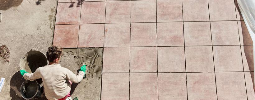 Carrelage sur terrasse