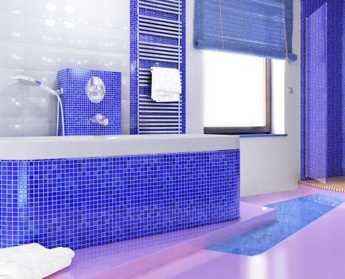 Le carrelage mosaïque pour la salle de bain